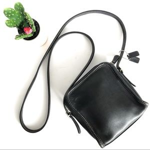 {COACH} Black Leather Small Cross Body Bag